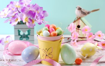 Easter,eggs,Весна,spring,яйца,decoration,happy,цветы