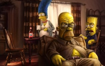 the simpsons,homer,marge,bart,Breaking bad