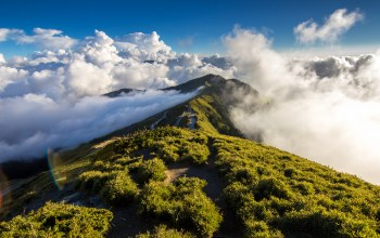 mountain,cloud,sky,path