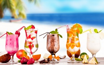 summer,drink,Коктейли,напитки,fruit,tropical,beach,cocktails