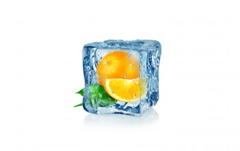 orange,cube,Frozen,воды,апельсин,fruit,капли,ice,льда,куб