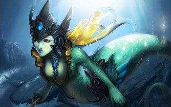 tidecaller,league of legends,хвост,Nami