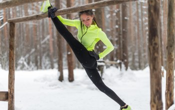 Elongation,cold,workout,Outdoor activity,snow