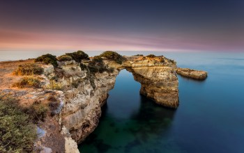 Sunset,atlantic ocean,rock,Albandeira,algarve