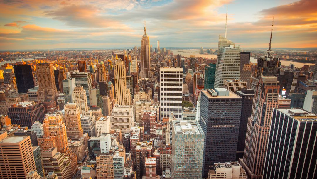 buildings,downtown,skyscrapers,Sunset,сша,new york city