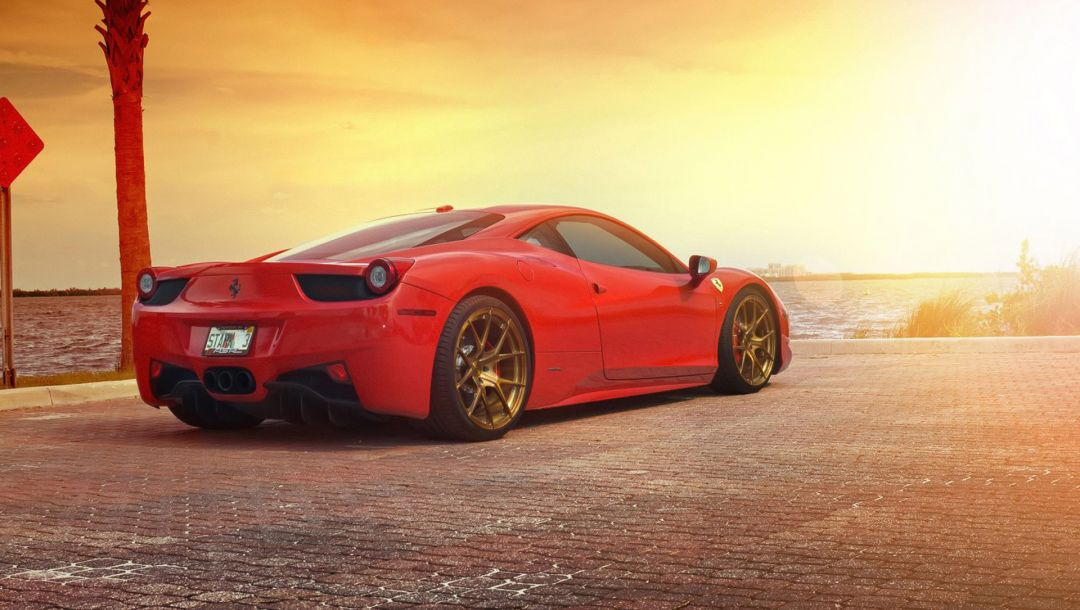 rear,supercar,Sunset,italia,Red,458