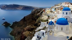 church,dome,lights,oia,santorini,city,evening,santorini,greece,greece,oia,aegean sea