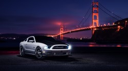 mustang,top,nigth,Front,Muscle,White,aristo,Ford,Collection,car,bridge