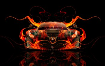 hybrid,el tony cars,car,Tony kokhan,fire,Abstract,orange
