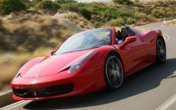 Road,458 italia,Spider,Speed,Red