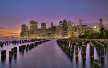 lower manhattan,east river,brooklyn bridge park,new york,сша