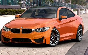 Bmw,orange,f82,by dangeruss,3d studio max,vray,photoshop