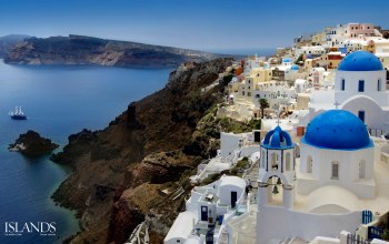 church,dome,lights,oia,santorini,evening,santorini,greece,greece,oia,aegean sea
