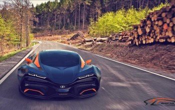 forest,concept,Road,lada,равен,trees,car,Speed