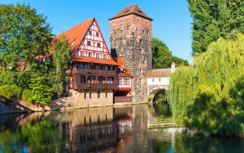 Nuremberg,henkersteg,Bavaria,нюрнберг,Germany,hangmans bridge,pegnitz river