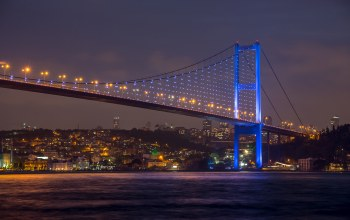 Beautiful view ,bosphorus bridge at night ,Istanbul,sky,sea of marmara,turkey