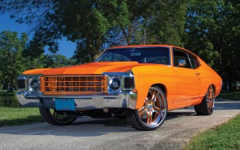 Chevy chevelle,orange,wallpaper