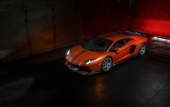 Lamborghini,ламборджини,vorsteiner,left,orange