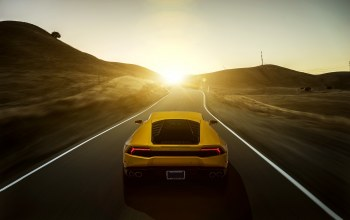 Lamborghini,lp 610-4,rear,lb724,Sunset,yellow