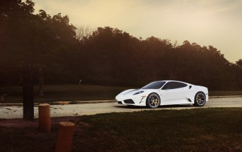 ф430,White,Sunset,scuderia,Феррари,скудерия