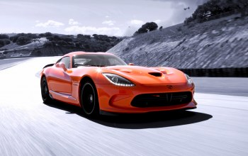 dodge,Speed,sky,orange,viper,supercar,Track