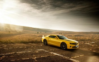 yellow,car,chevrolet,camaro,Muscle,edition,bumblebee