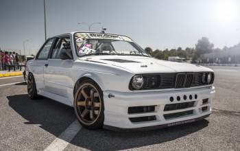 Bmw,White,drift car