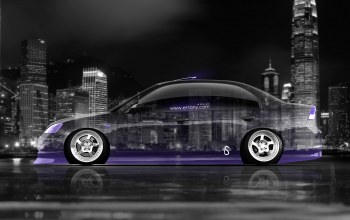 wallpapers,car,crystal,el tony cars,civic,Tony kokhan,jdm,violet