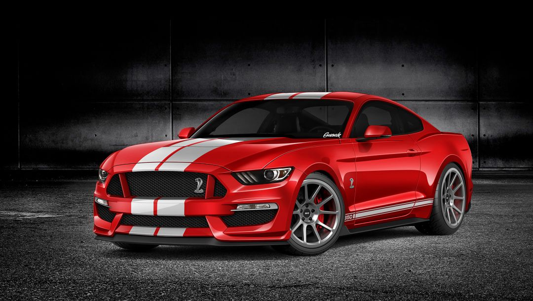 gt350,by gurnade,форд,Red