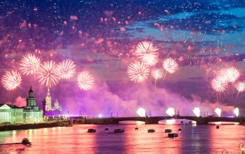 colorful,reflection,ночь,салют,water,fireworks