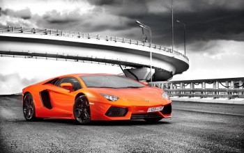 orange,Lamborghini
