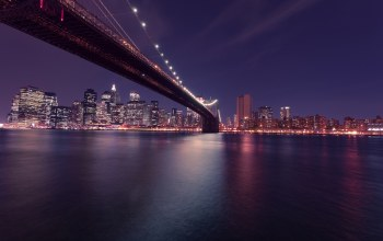 new york city,Brooklyn bridge,сша,manhattan