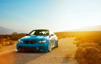Sunset,Bmw,M3,blue,sky,liberty,walk