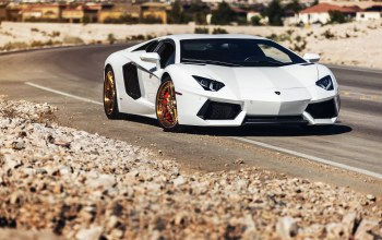 b-forged,desert,power,White,supercar,wheels,Lamborghini,Road