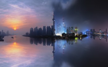 architecture,china,shanghai,Long,clouds,building,Cityscape,Cityscape,light