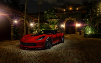 c7,Red,z06,Chevrolet corvette,hq wallpaper