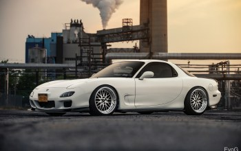 rx-7,Mazda,automotive photography,evano gucciardo,japanese cars,White