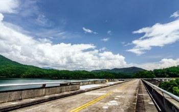 Fontana dam,tree,cloud,dam,Road,carolina,mountain,sky,smokey,north,forest
