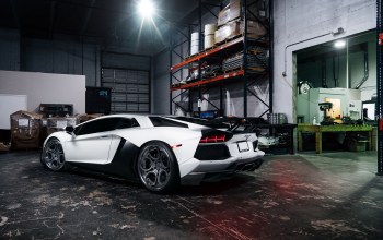 rear,White,wheels,matte,supercar,Lamborghini,adv.1,garage