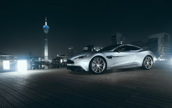 nigth,supercar,vanquish,tower