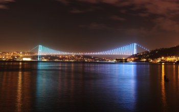 ships,Istanbul turkey,bosphorus bridge panoramic view ,lights,sky,sea of marmara