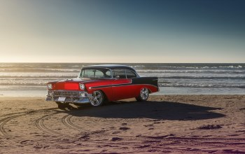 car,water,1956,bel air,summer,old,chevrolet