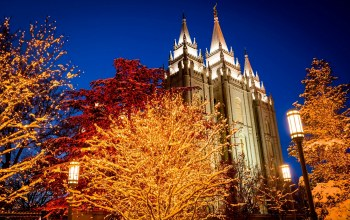 юта,salt lake city,сша,united states of america,temple square,utah,ночь