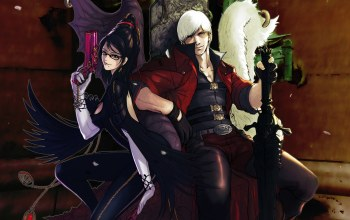 games,Bayonetta vs dmc,yukikaseni,slayers in company,Devil may cry,guns & swords