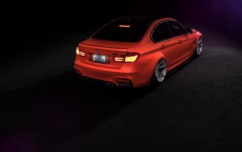 perfomance,car,wheels,rear,f80,orange,M3,Bmw,low