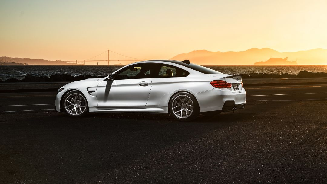 Bmw,sport,Collection,White,car,Sunset,rear,f82
