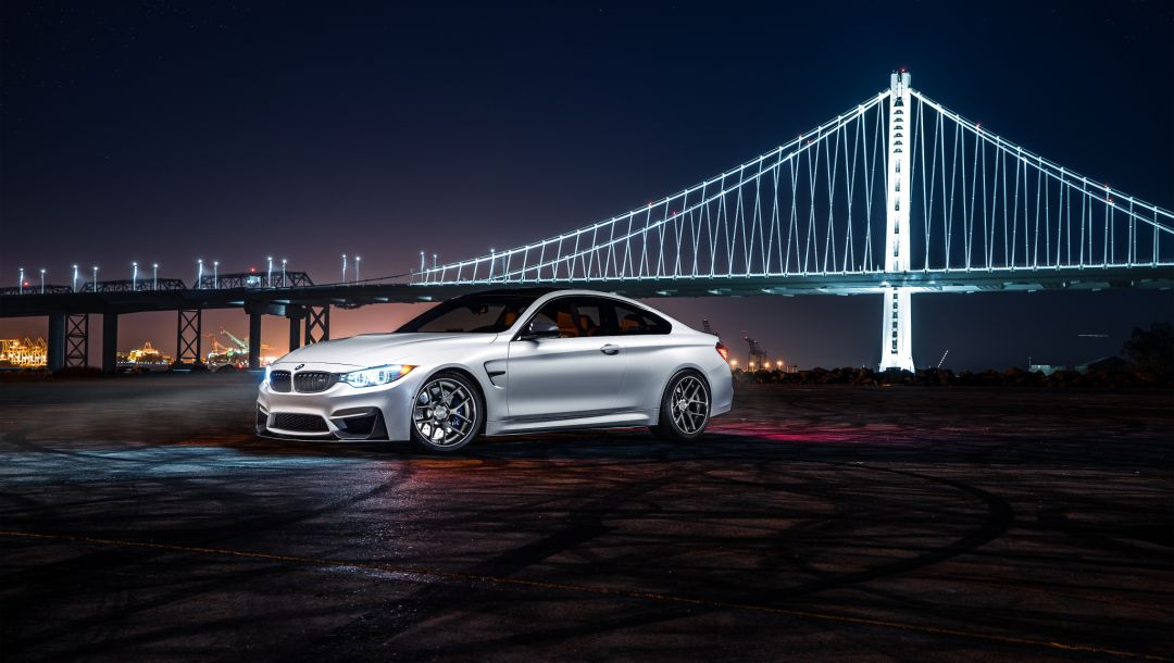 Bmw,car,ligth,Collection,nigth,White,f82,bridge