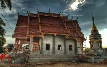 monastery,Building under construction