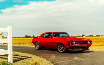 car,Muscle,touring,hellfire,1969,chevrolet,camaro,Red