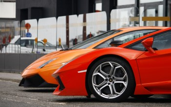 Lamborghini,rim,orange,Red,mirror